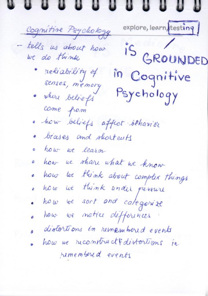 Lesson 18 - Cognitive Pshychology