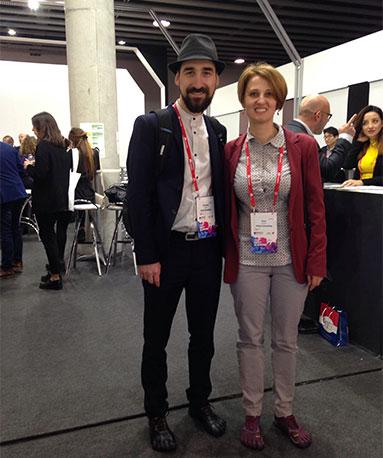 Oana Casapu and Alex Rotaru at MWC 2017